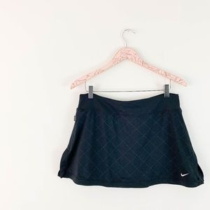 Nike Tennis Skirt Large Black A-line Skort Flare